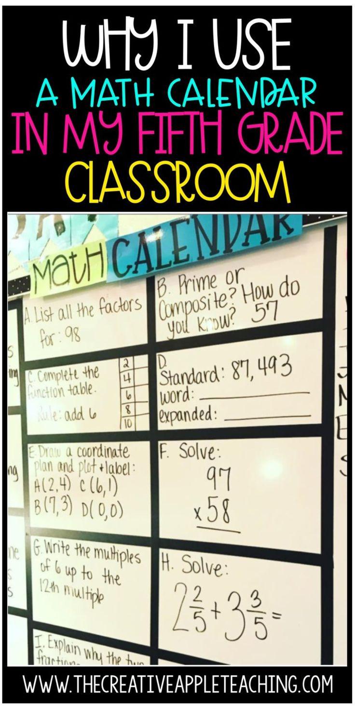 Math Calendar for the Higher Grades
