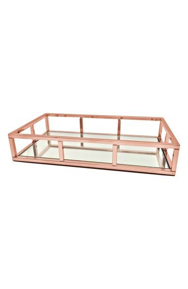Danielle Creations Rose Gold Mirror Tray (Nordstrom Exclusive) available at #Nordstrom