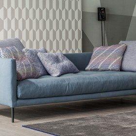 Coral divano moderno in tessuto, 3 posti - Bonaldo
