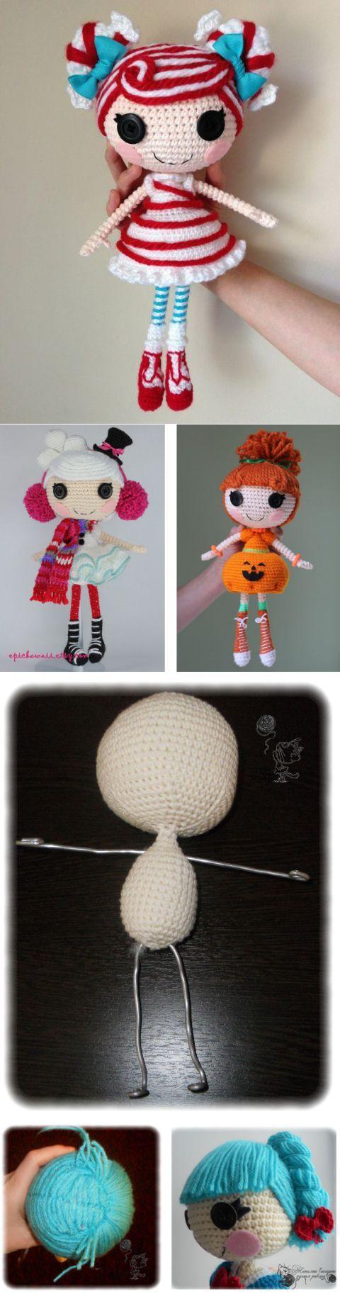 Вязаная кукла Lalaloopsy: подробная схема и описание   Вязаные куклы.   Постила
