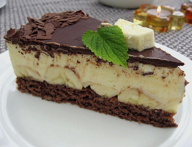 Beste Rezeptesammlung: Bananen Schokolade Torte