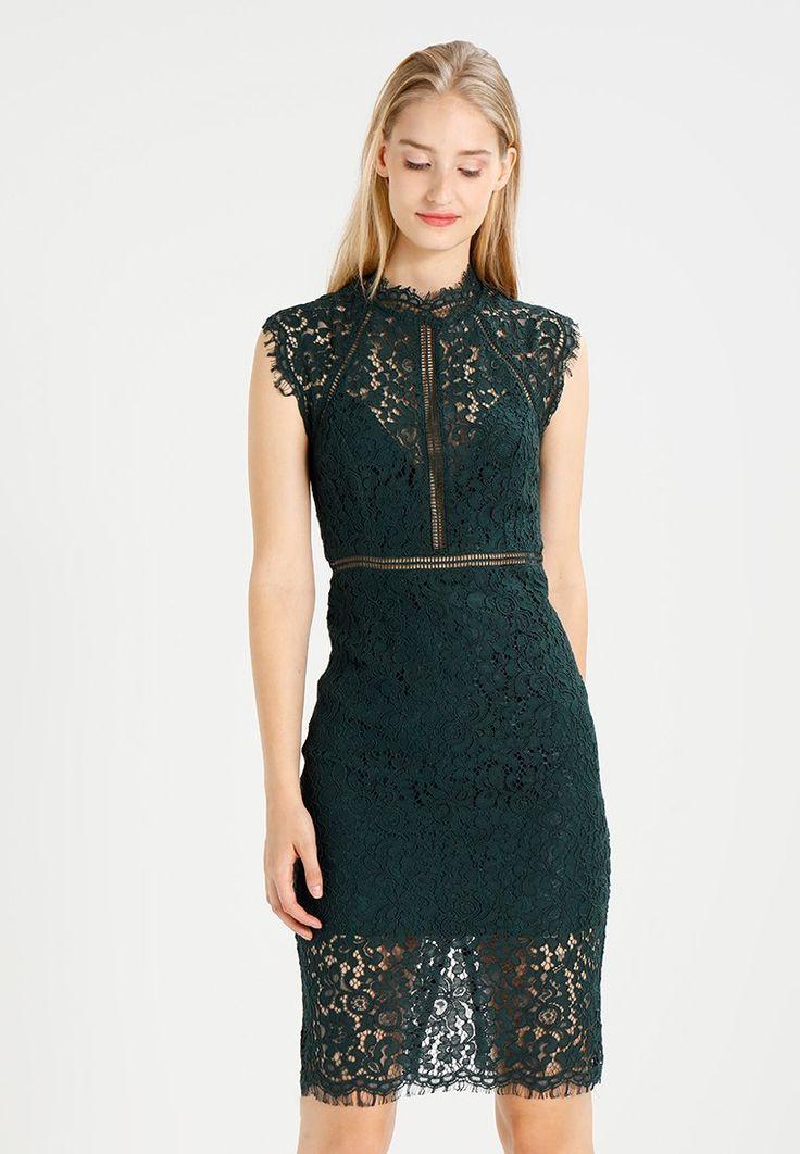 Bardot PANEL DRESS - Fodralklänning - dark green - Zalando.se