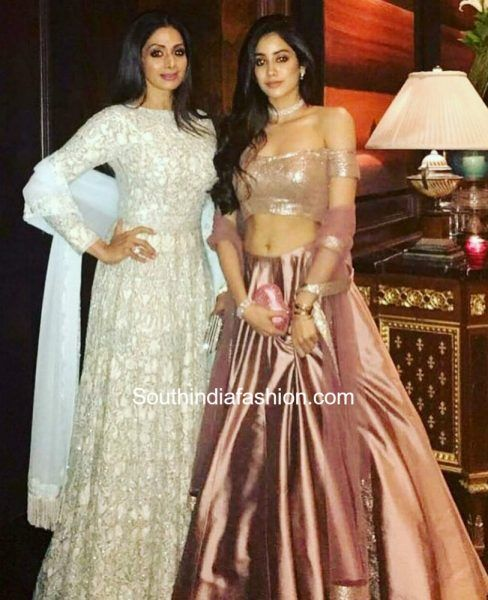 Sridevi and Jhanvi Kapoor in Manish Malhotra Couture photo