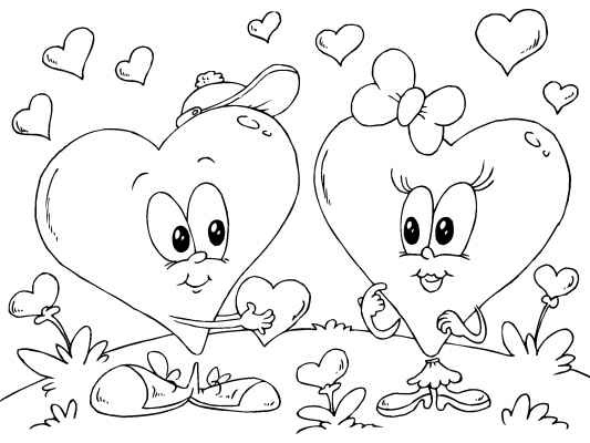 The 7 best images about Free Valentines Day Coloring Pages on