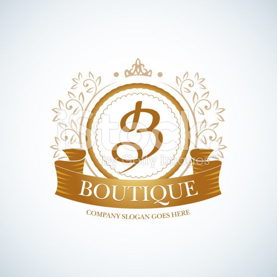 Boutique Luxury Vintage, Crests logo. royalty-free stock vector art