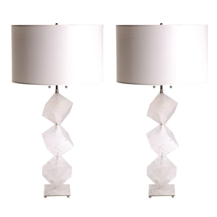 308 best table lamps images on pinterest atmospheric circulation rock crystal cube lamps mozeypictures Gallery