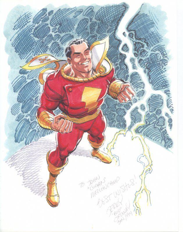 Jerry Ordway Captain Marvel Shazam! Comic Art/ Impressive