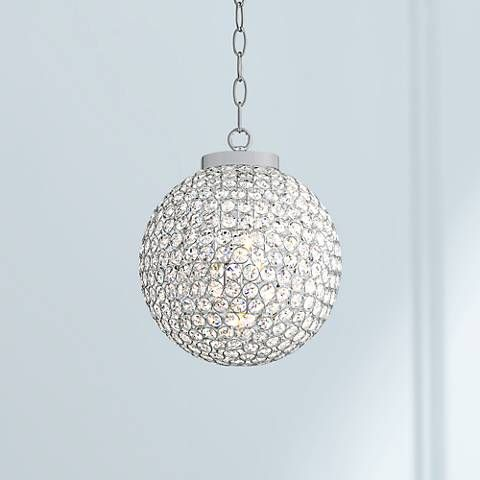 Update Any Room From Drab To Spectacular With This Dazzling Chrome And  Clear Crystal, Round