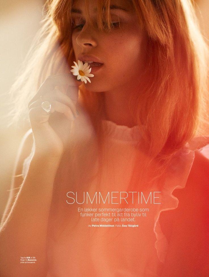 """ELLE Norway's June2017 """"Summertime"""" photographyAsa Tallgar modelLise Olsen fashion director Petra Middelthon hair &makeupSissel Fylling     via fgr/ models"""