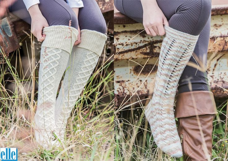 Long Socks  Brand: Elle Count: 4ply Yarn: Sock Wool Yarn has been discontinued – another 4ply yarn can be used as a substitute Size From: Ladies Small Size To: Ladies Large