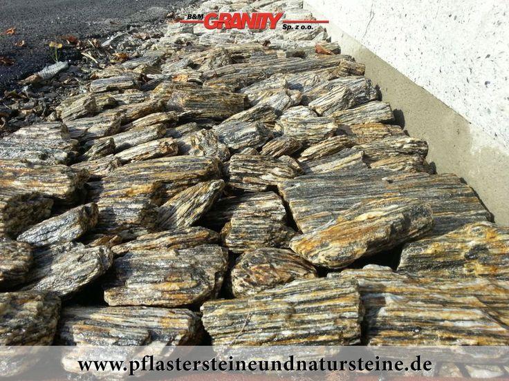 Ziersteine / Gneis 63-250 mm für Gabionenkörbe und eine Natursteinmauer...Steine im Garten...
