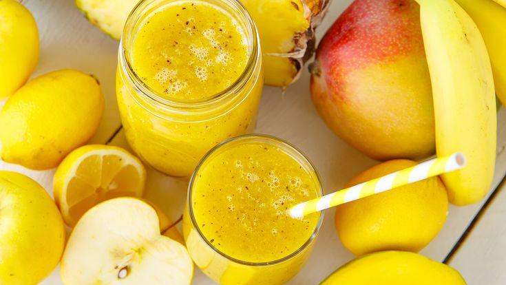 Tajemnica płaskiego brzucha: koktajl bananowo-  jabłkowo-imbirowy.