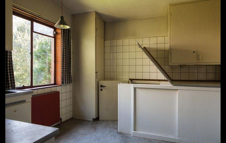 Køkkenet med kælderlemmen