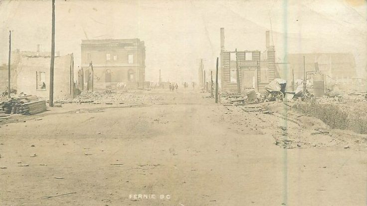 c.1906 Main Street after the Fire, FERNIE BC