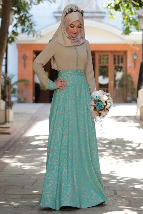 Cemile Nur Bej Yenibahar Tesettür Elbise