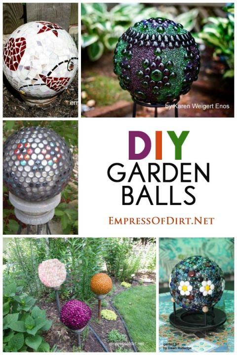 DIY Garden Balls - Gallery of ideas #GardenDecor #crafts