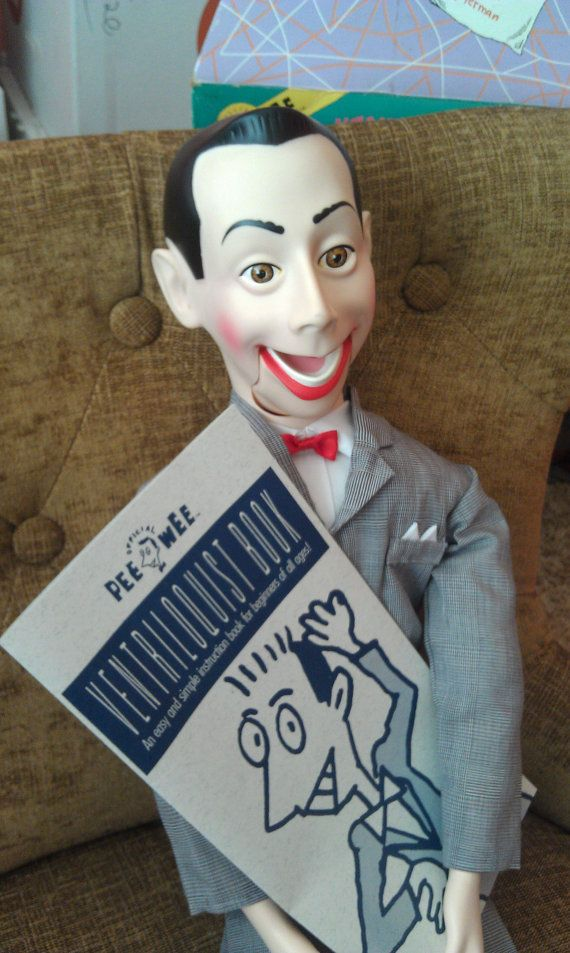 1989 Pee Wee Herman Ventriloquist Doll by InRareFormVintage, $85.00: Dolls Life, Herman Paul, Ventriloquist Dolls, Herman Ventriloquist, Pee Weeeeeeeee, Pee Wee Herman, Pee We Herman, Creepy Dolls, 1989 Pee
