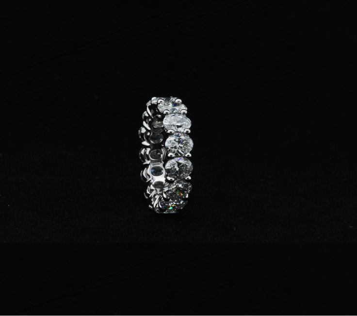 Oval shape diamonds eternity band ring in platinum COLUCCI DIAMONDS