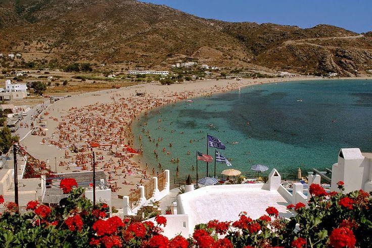 Mylopotas Beach, Ios island, Greece.