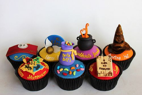Harry Potter Cupcakes! :>Potter Parties, Birthday, Hp Cupcakes, Food, Harrypotter, Cups Cake, Savory Recipe, Harry Potter Cupcakes, Cupcakes Rosa-Choqu