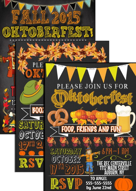 Oktoberfest PARTY invite designs Oktoberfest by CustomPrintablesNY