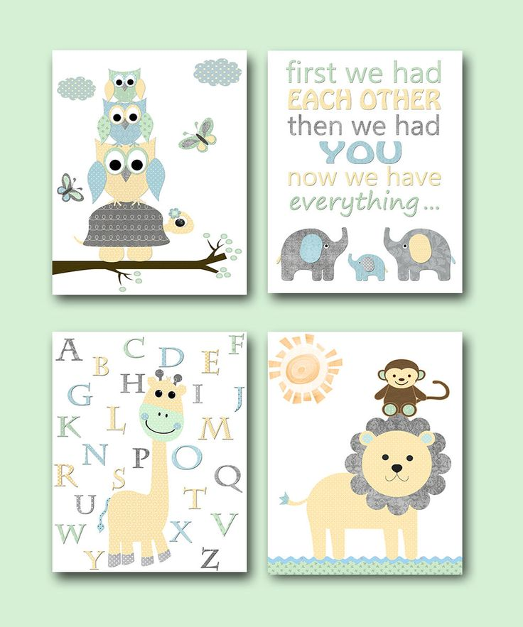 Canvas Print Baby Boy Nursery Quotes Kids Art for Children Kids Wall Art Baby Boy Room Decor Elephant Nursery Print Giraffe Nursery set of 4 by artbynataera on Etsy