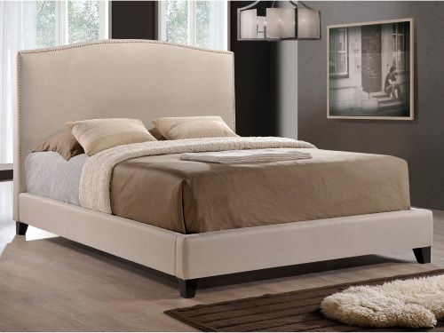 Our new bed!! Looks SO much like Crate & Barrel :) Aisling Fabric Platform Bed - Platform Beds at Hayneedle