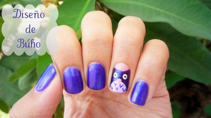 #NailArt #Tutorial #Buho #Owl #Masglo #Purple