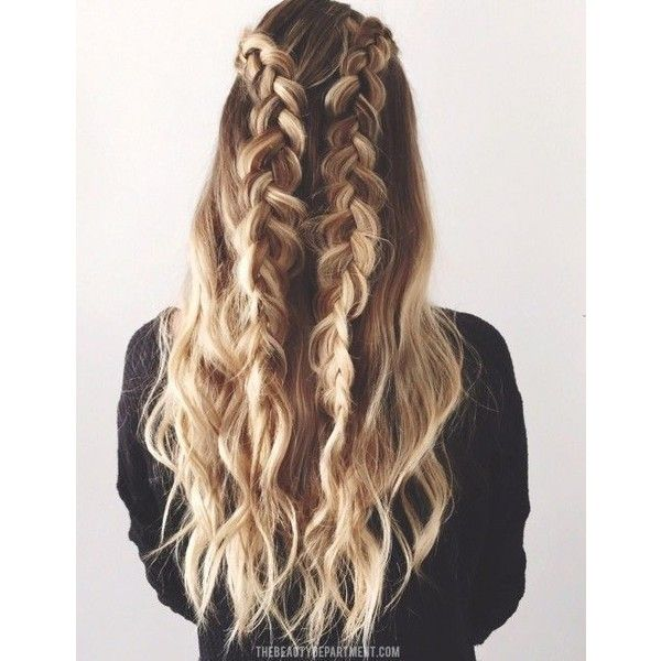 2 BRAIDS, 3 WAYS ❤ liked on Polyvore featuring accessories, hair accessories, hair and long hair accessories