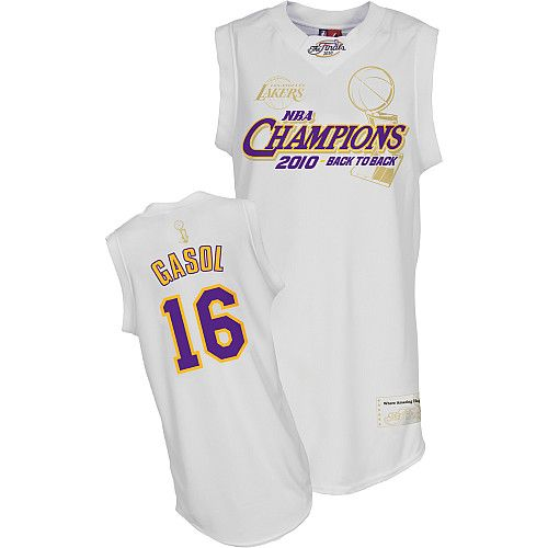 2aad7682c ... NBA Jersey Los Angeles Lakers Pau Gasol 16 White Authentic Jersey Sale .