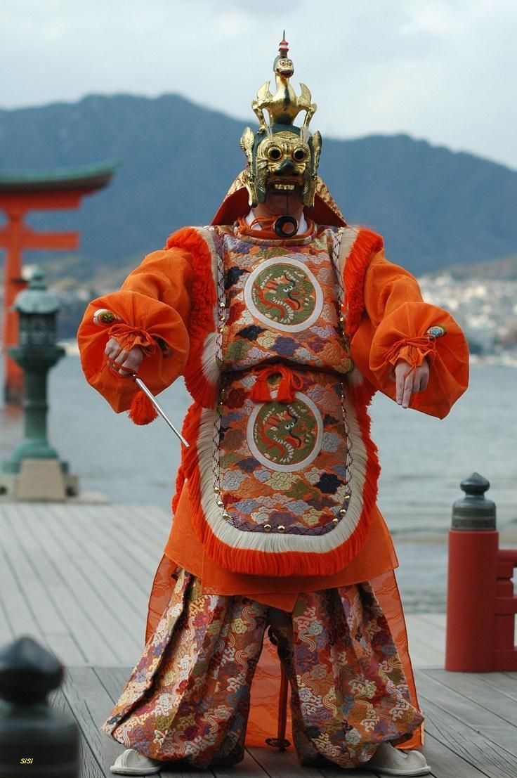 蘭陵王 / Ranryohoh, Bungaku at Itsukushima Shrine, Miyajima, Hiroshima, January 2008