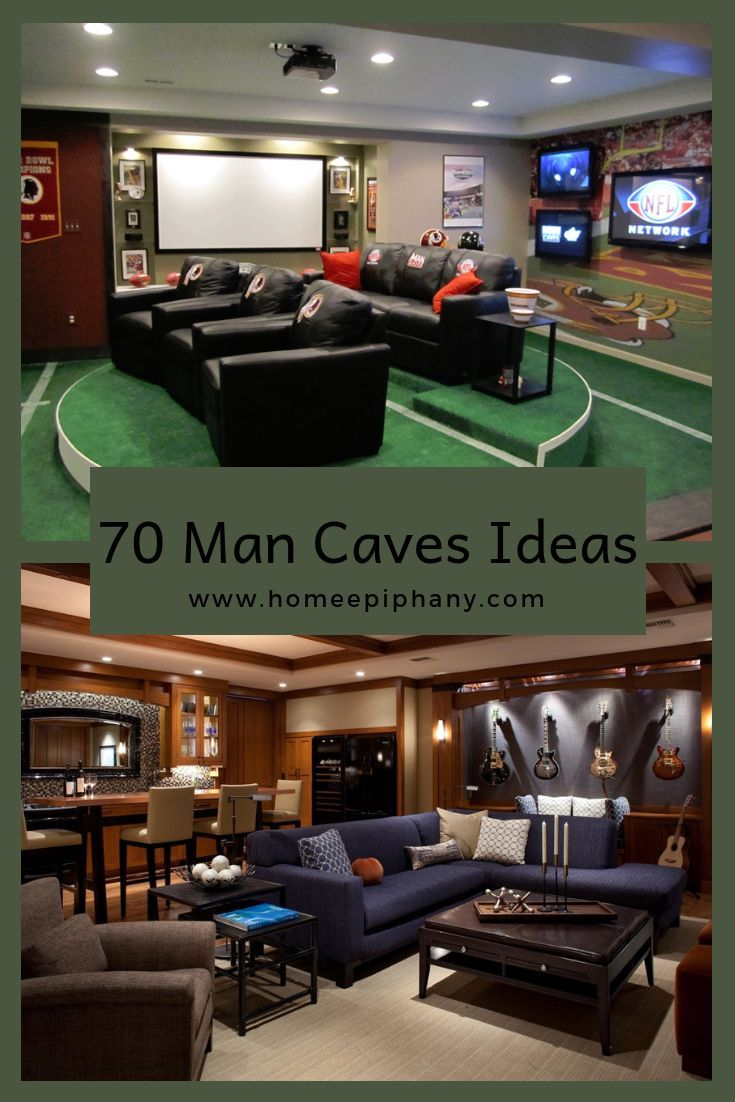 70 Man Caves In Finished Basements And Elsewhere Man Cave Bathroom Man Cave Room Man Cave Design