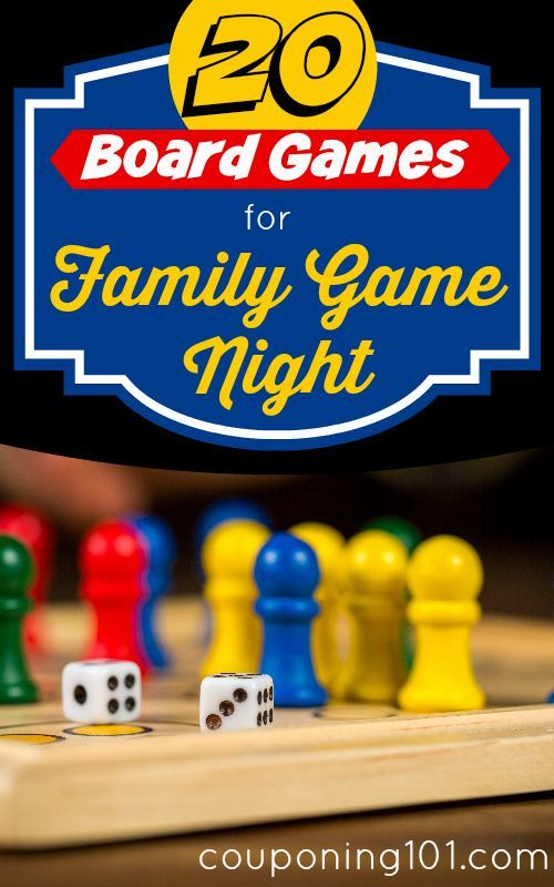 20 Board Games for Family Game Night! Freshen up your game night routine with these fun family board games!