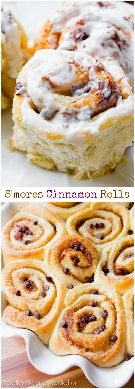 S'mores Cinnamon Rolls - soft, fluffy, and bursting with s'mores flavor in every bite. Trust me, you HAVE to try them!