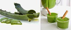 Desintoxicar el cuerpo con este batido de aloe vera y té verde.
