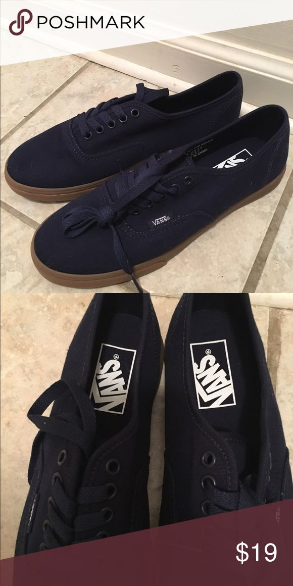 Navy Vans LoPro with gum sole. Navy Vans LoPro with gum sole. Size 6. Never been worn. Vans Shoes Athletic Shoes