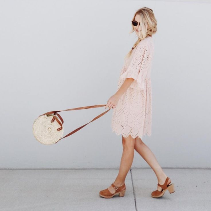 Falling For You Eyelet Dress in Blush - ROOLEE - IG:@hanwestby