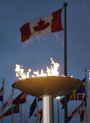 Olympic Cauldron - Calgary, Alberta Canada - 1988 Winter Olympic Games