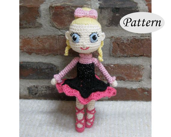PATTERN  Ballerina  Amigurumi  Crocheted Ballet by amigurumi4ever