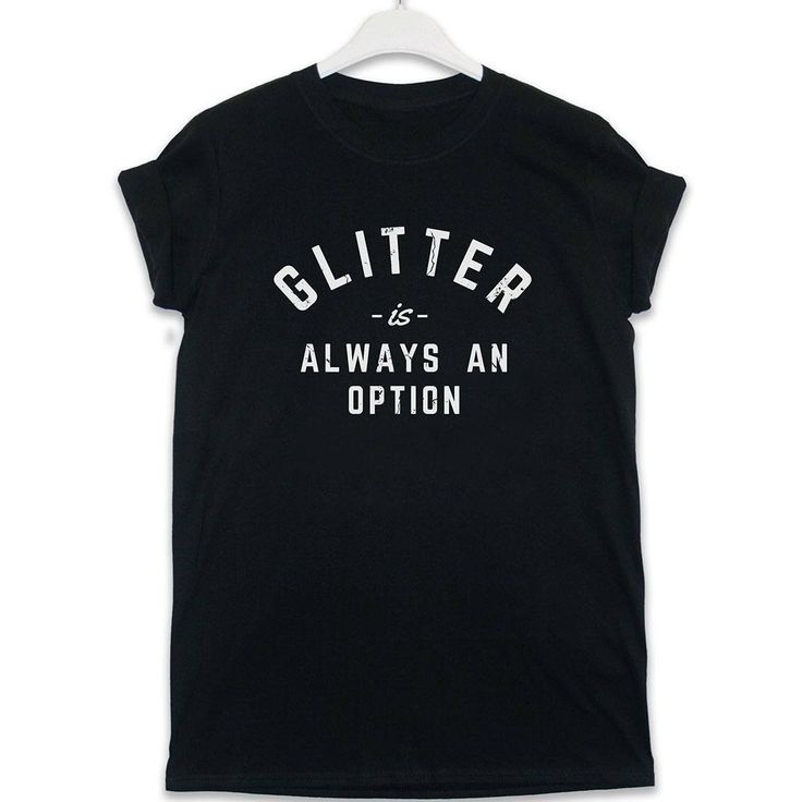 """The new range of #slogan tees from 8ball.co.uk. With over 60 designs to choose from make sure you always wear what you're thinking. """"Glitter is always an option"""" £13.99"""