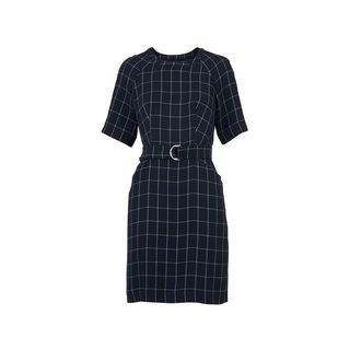 Uma Belted Check Dress, in Navy on Whistles