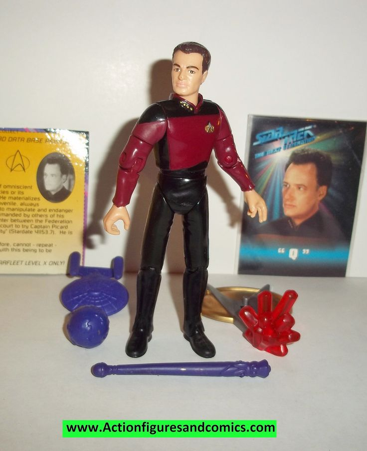 Playmates Toys STAR TREK: The next generation action figures Q 100% COMPLETE Even includes the exclusive trading card and file card Condition: Excellent figure size:4 1/2 inches ----------------------