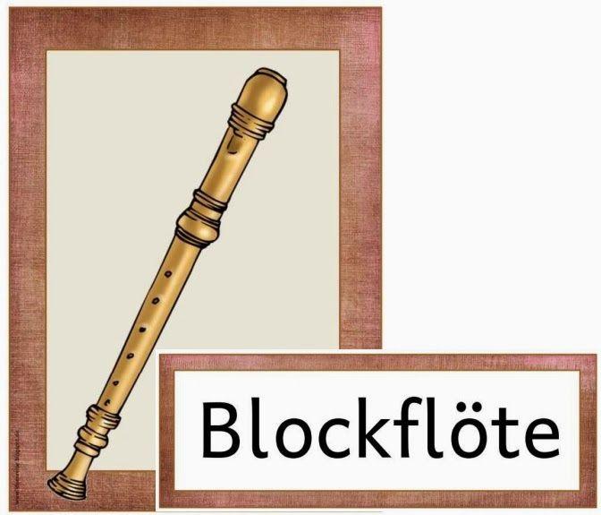 Musik in der Grundschule: Wortkarten mit Instrumentennamen
