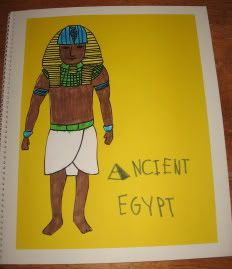 Ancient Egypt Unit Study-making an Egyptian mask and mummifying experiment.