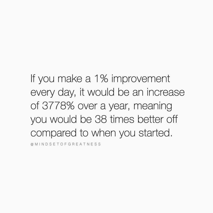 """Truth via @mindsetofgreatness I write about this in more detail in my new 'IMPOSSIBLE Goal Setting' ebook (FREE download in @achievetheimpossible bio) - I thought I'd share with you a small section... 'The 365th power of 0.99 is 0.0255 The 365th power of 1.01 is 37.7834"""" - """"When we are operating at even just 99% consistently day after day, we can slowly see the negative effects. I hear you saying, """"That's not really a big deal though is it?! 99% is better than nothing!"""" - Over a single day…"""