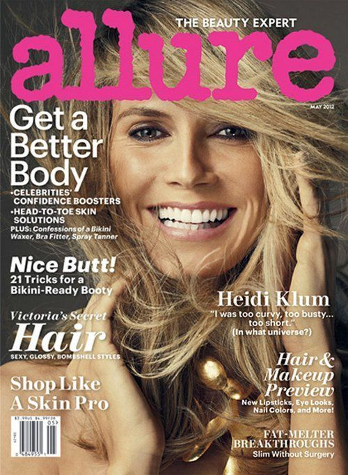 The German stunner appears on the cover of @Allure Magazine's May 2012 issue.: Four Kids, A Mini-Saia Jeans, Skincare, Skin Care, Heidi Klum, Allure Magazines, Magazines Covers, Heidiklum, Fields