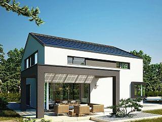 Virtuelle Besichtigung Das CONCEPT-M 172 Musterhaus in Köln repräsentiert mit seinem hohen Kniestock, dem flach geneigten Dach und dem konsequenten Verzicht auf Dachüberstände eine zukunftsweisende Interpretation des Satteldachhauses. Der markante Baukörper wird durch Highlights wie die schlanken zurückgesetzten Fenster-Bänder und die angebauten Architekturbauteile geprägt. Dabei schaffen die verklebten Eckfenster im Wohnzimmer, die große Terrassen-Pergola und das Eckfenster in der Küche…