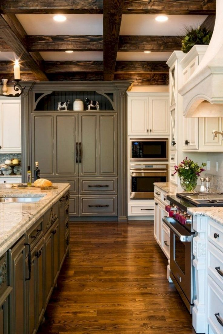 Best 42 Lovely Gray Kitchen Cabinets Design Ideas Rustic 640 x 480