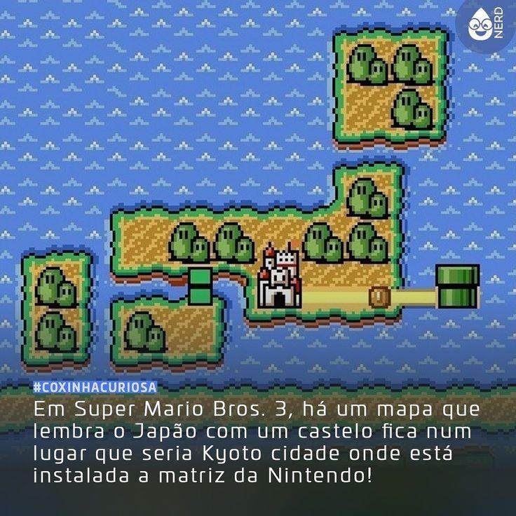 #CoxinhaCuriosa Nintendo cheia de referências!  #TimelineAcessivel #PraCegoVer  Imagem do jogo Super Mario Bros. 3 com a curiosidade: Em Super Mario Bros. 3 há um mapa que lembra o Japão com um castelo fica num lugar que seria Kyoto cidade onde está instalada a matriz da Nintendo!  TAGS: #coxinhanerd #nerd #geek #geekstuff #geekart #nerd #nerdquote #geekquote #curiosidadesnerds #curiosidadesgeeks #coxinhanerd #coxinhagames #games #videogames #viciadosemgames #dicadegame #supermario #nintendo…