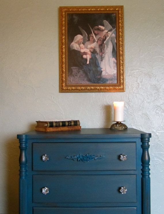 Vintage Peacock Victorian Dresser / Chest of by FrenchVanillaEtc, $450.00